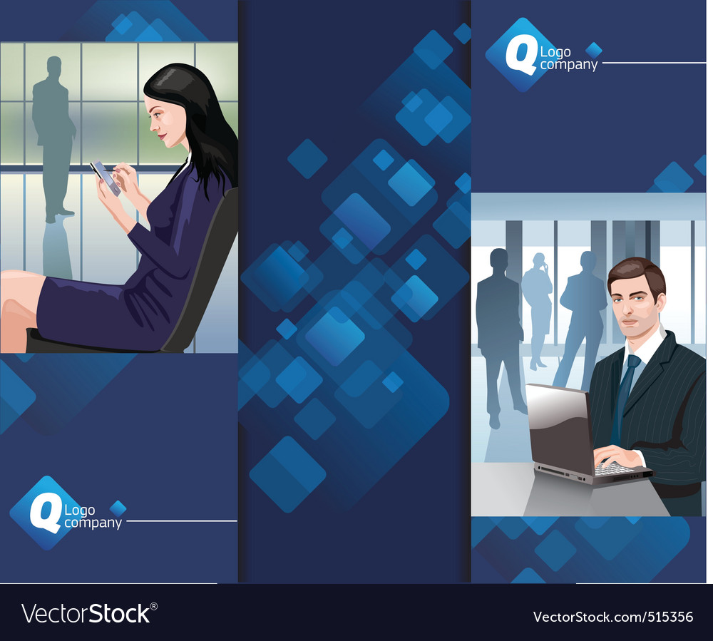 Business man woman vector | Price: 3 Credit (USD $3)