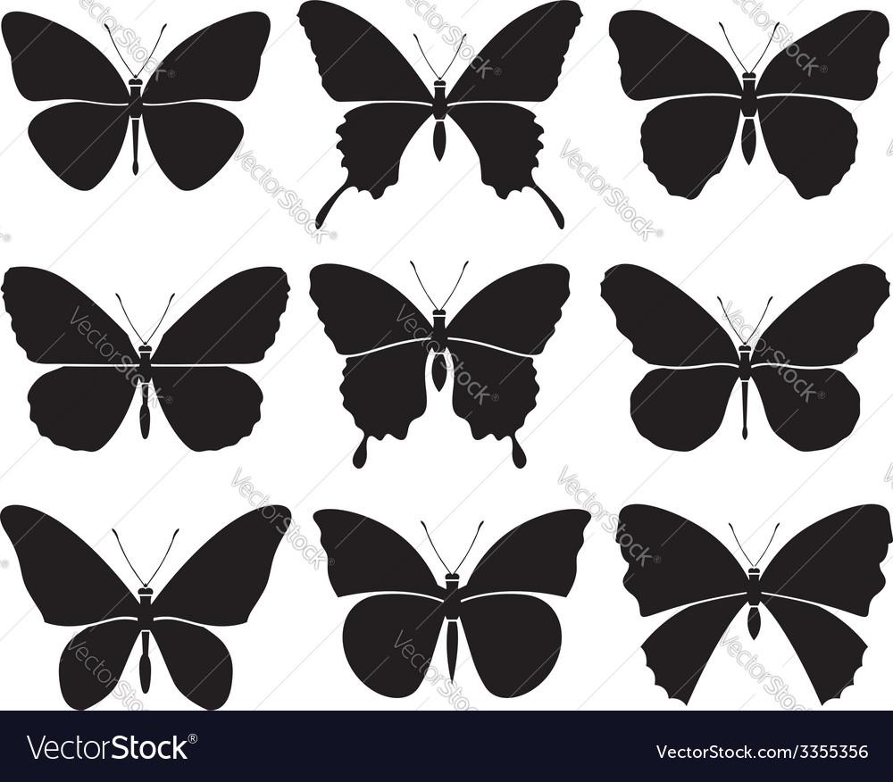 Butterflies set vector | Price: 1 Credit (USD $1)
