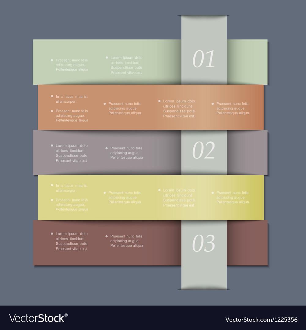 Design template in retro colors for infographics vector | Price: 1 Credit (USD $1)
