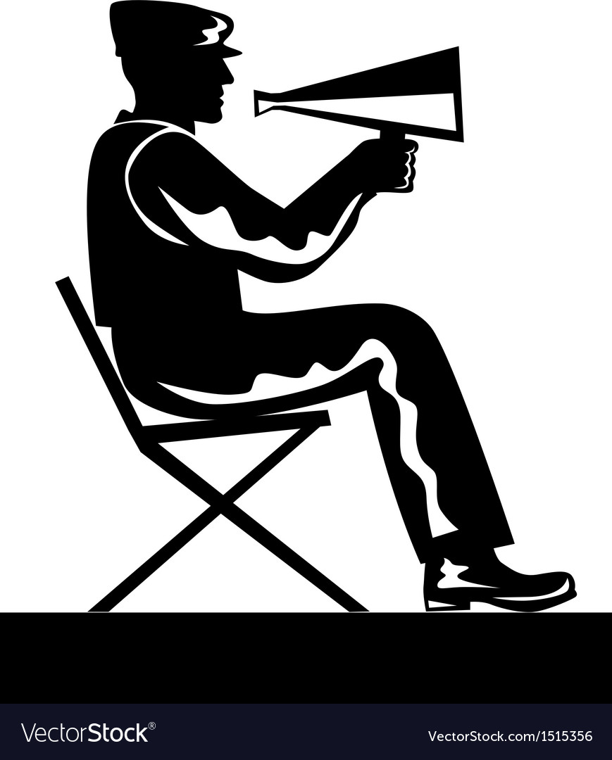 Director with megaphone vector | Price: 1 Credit (USD $1)