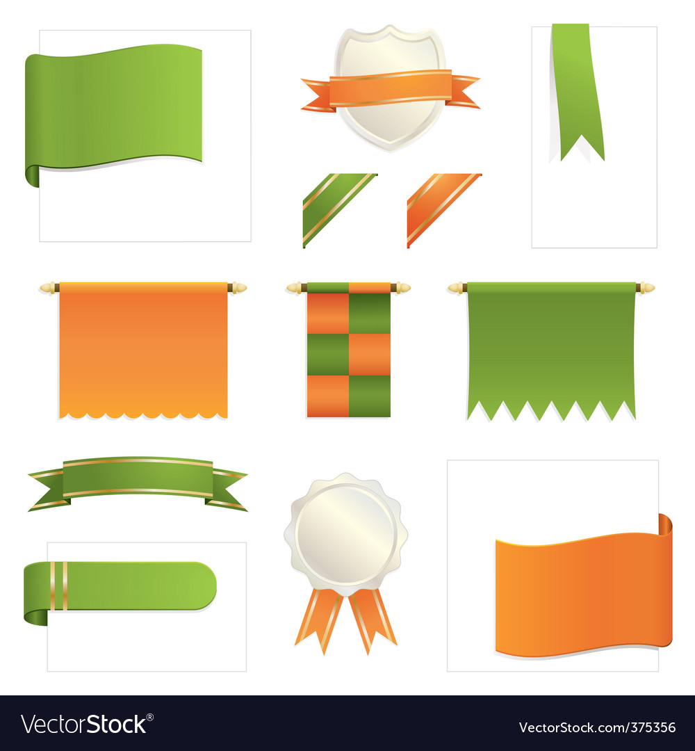 Green and orange design elements vector | Price: 1 Credit (USD $1)