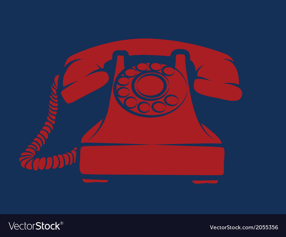 Hotline red phone vector | Price: 1 Credit (USD $1)