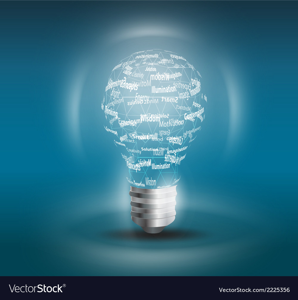 Lamp idea concept vector | Price: 1 Credit (USD $1)