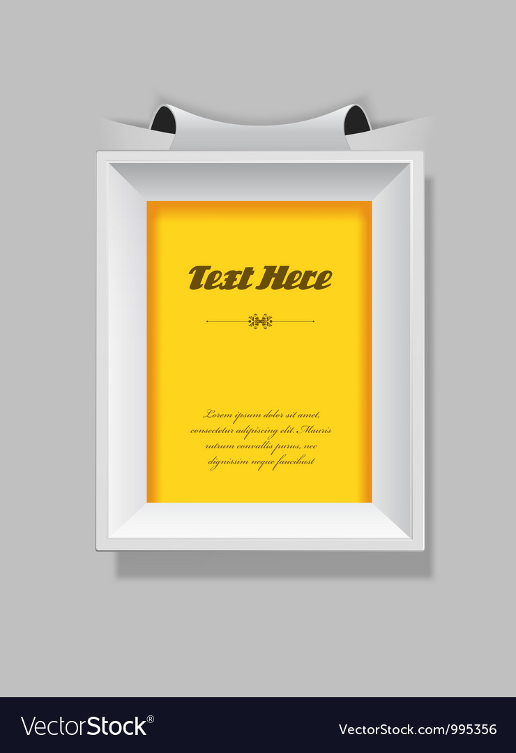 Picture frame with place for your own text vector | Price: 1 Credit (USD $1)