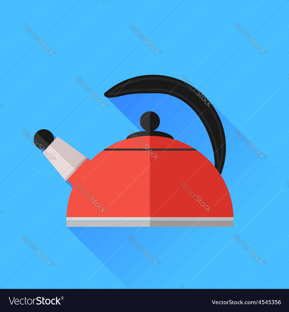 Red kettle icon vector | Price: 1 Credit (USD $1)