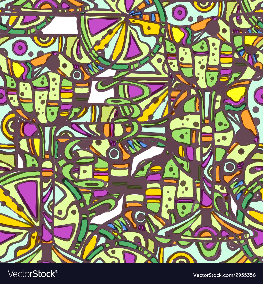 Seamless decorative cocktail pattern vector   Price: 1 Credit (USD $1)