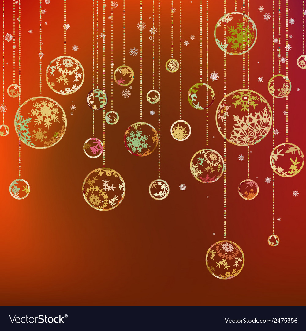 Vintage card with christmas balls eps 8 vector | Price: 1 Credit (USD $1)
