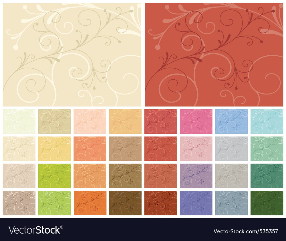 Abstract backgrounds 32 color variations vector | Price: 1 Credit (USD $1)