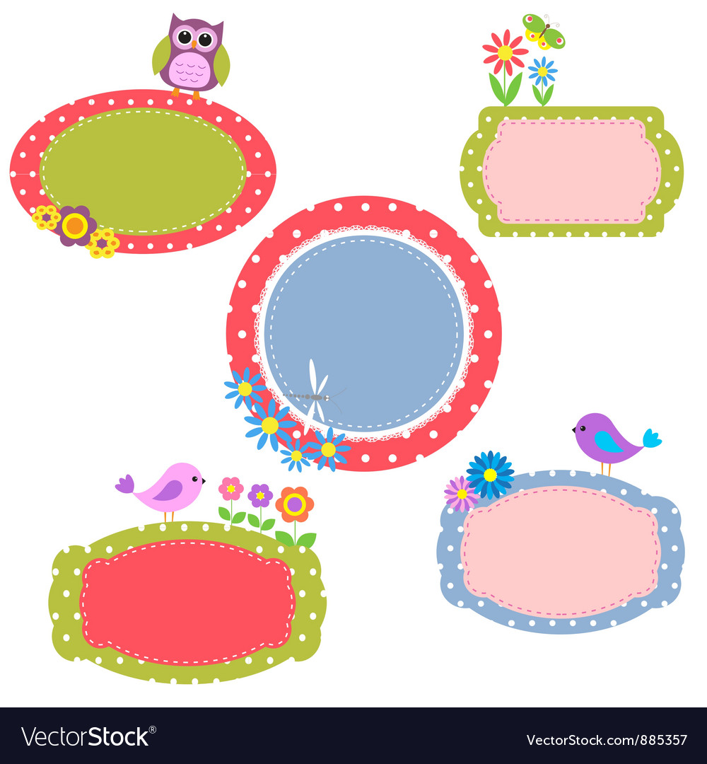 Cute frames vector | Price: 1 Credit (USD $1)