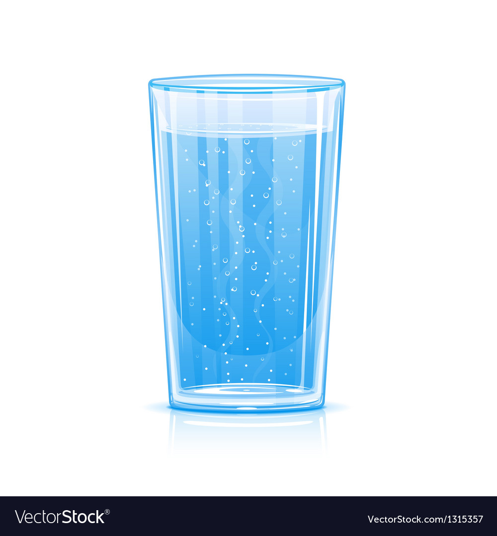 Glass of fizzy water vector | Price: 1 Credit (USD $1)