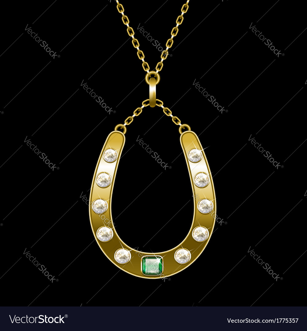 Golden horseshoe vector | Price: 1 Credit (USD $1)