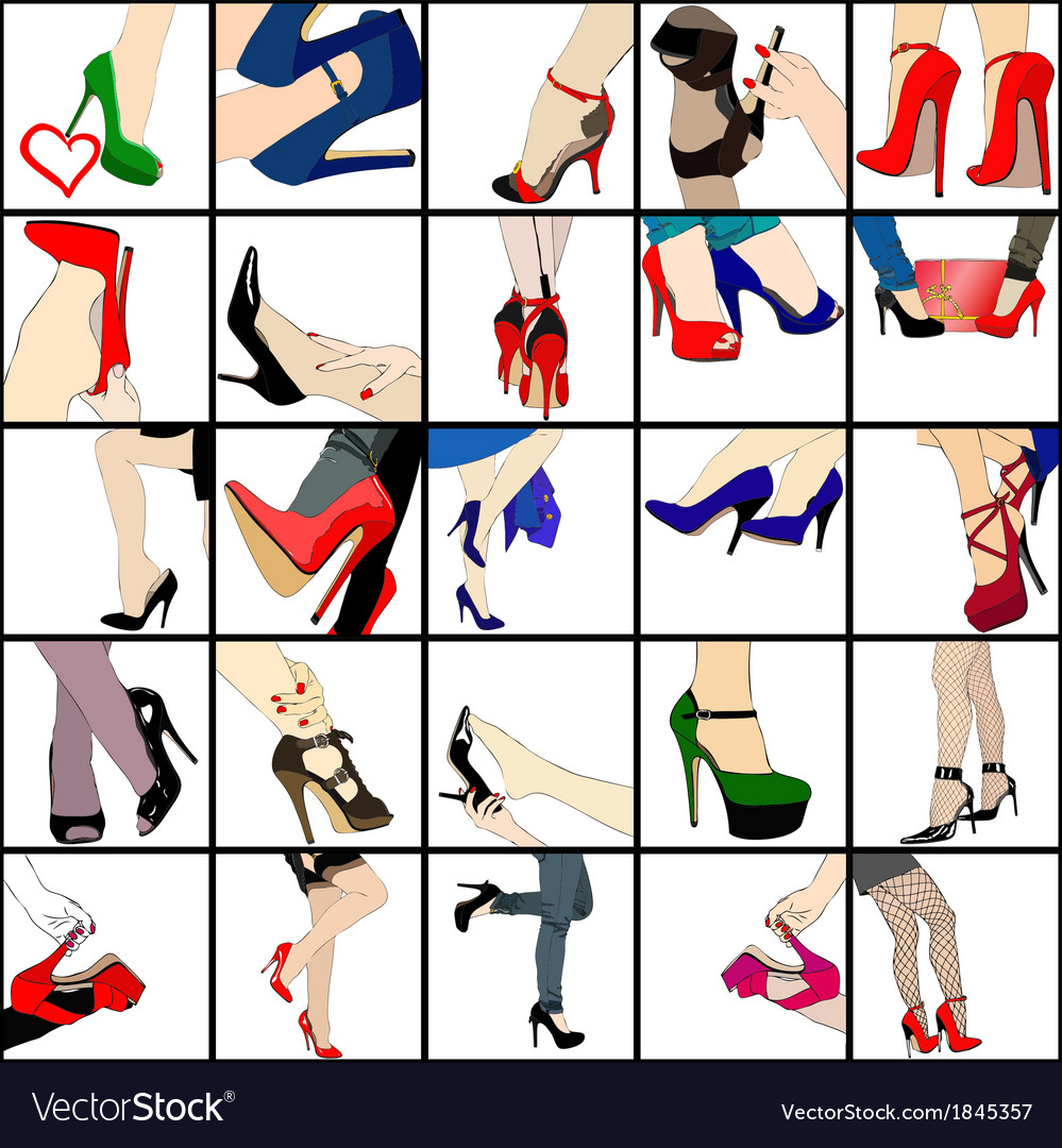 My passion for shoes vector | Price: 1 Credit (USD $1)
