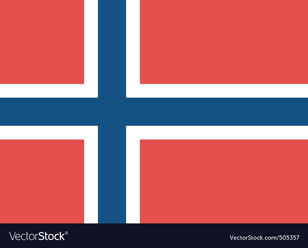 Norwegian flag vector | Price: 1 Credit (USD $1)