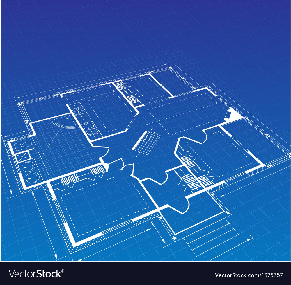 Plan a country house vector | Price: 1 Credit (USD $1)