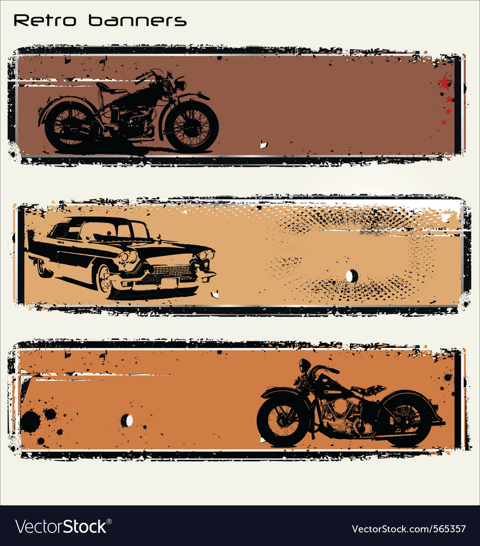 Retro banners vector | Price: 1 Credit (USD $1)