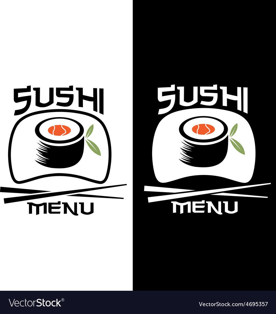 Sushi menu card template vector | Price: 1 Credit (USD $1)