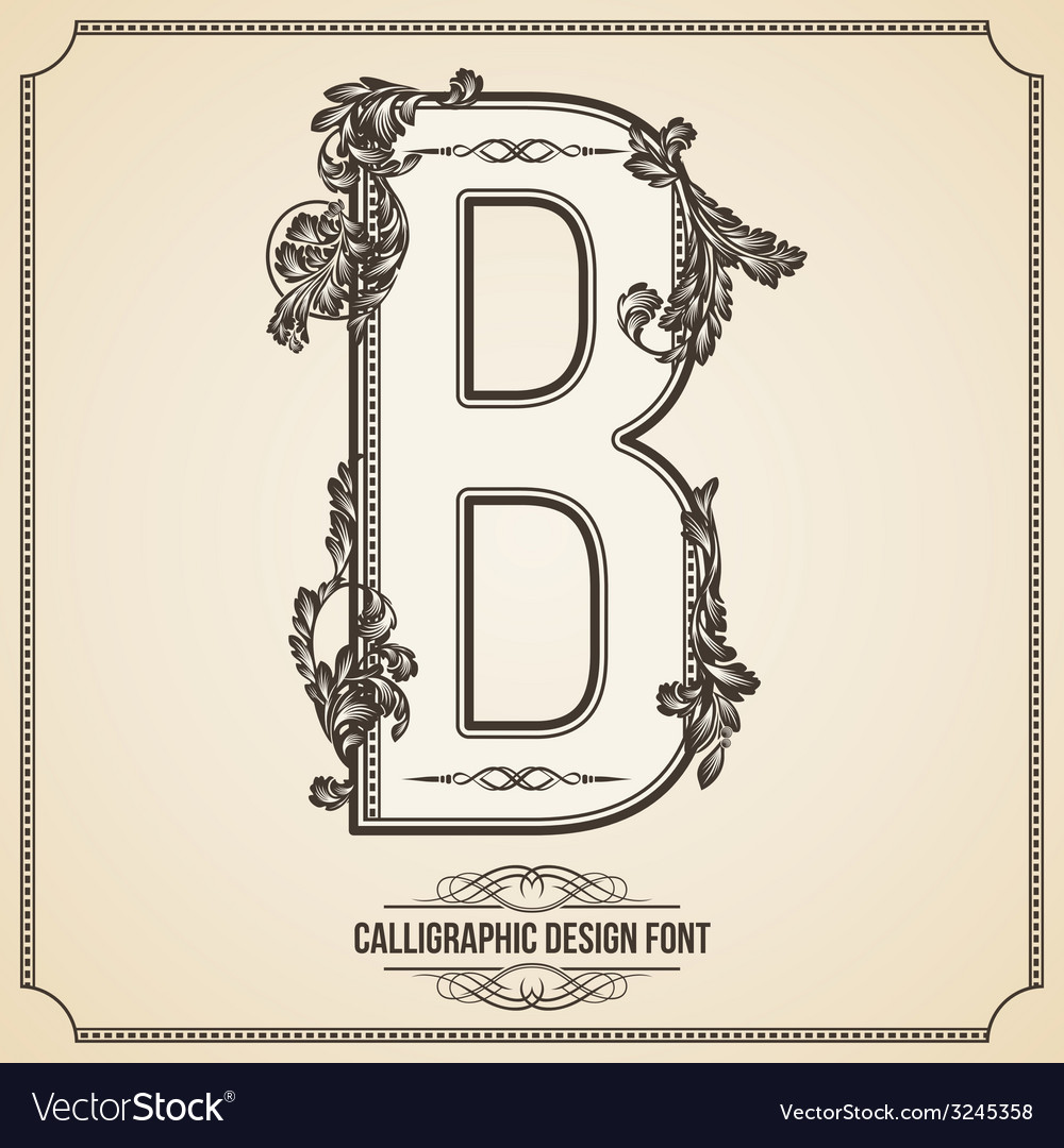 Calligraphic font letter b vector | Price: 1 Credit (USD $1)