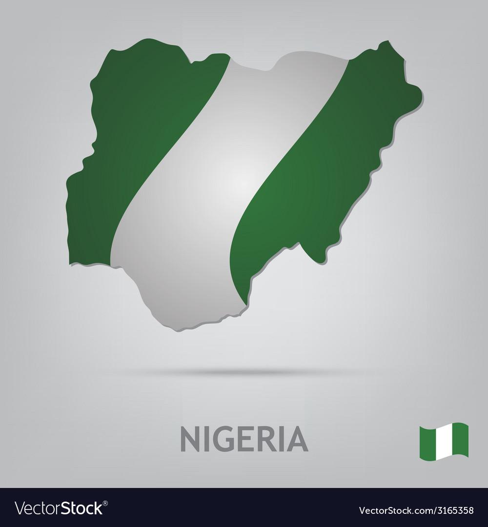 Country nigeria vector | Price: 1 Credit (USD $1)