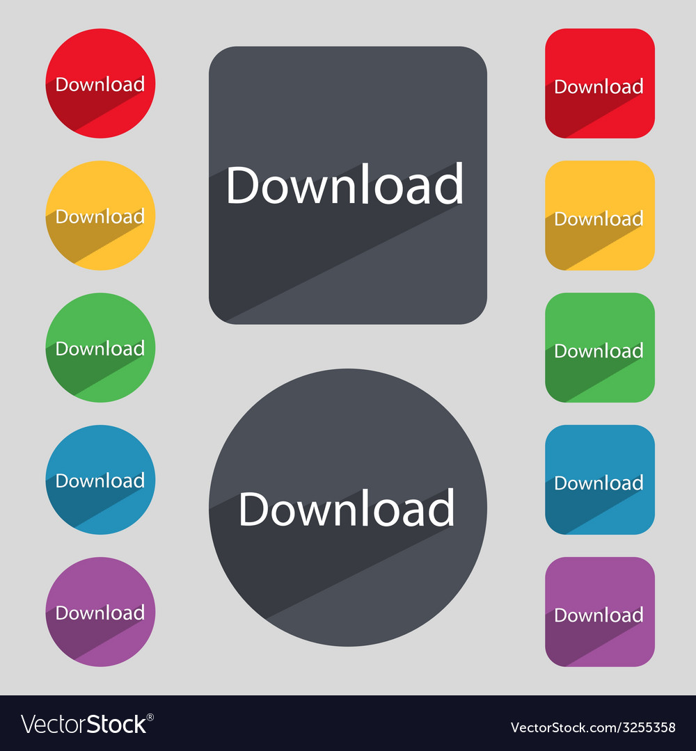 Download now icon load symbol set of colored vector | Price: 1 Credit (USD $1)