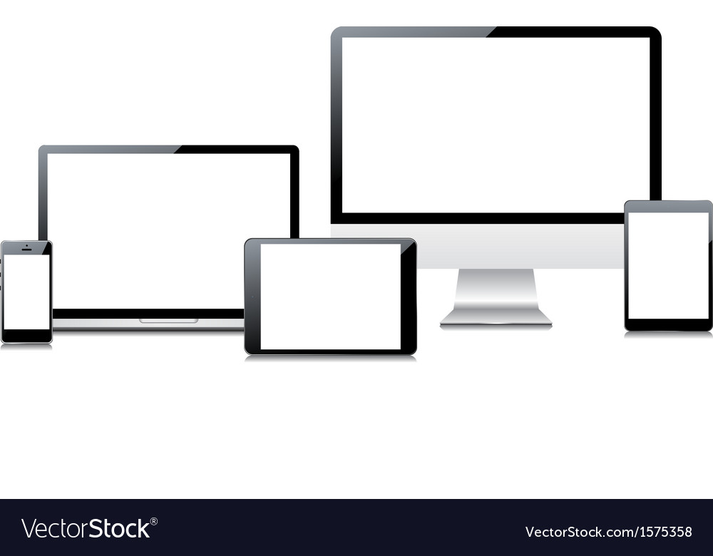 Electronic devices set vector | Price: 1 Credit (USD $1)
