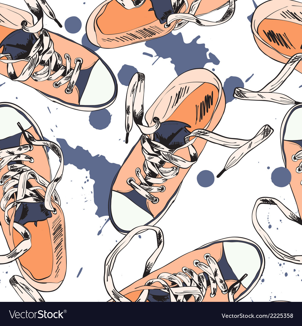 Gumshoes seamless pattern vector | Price: 1 Credit (USD $1)