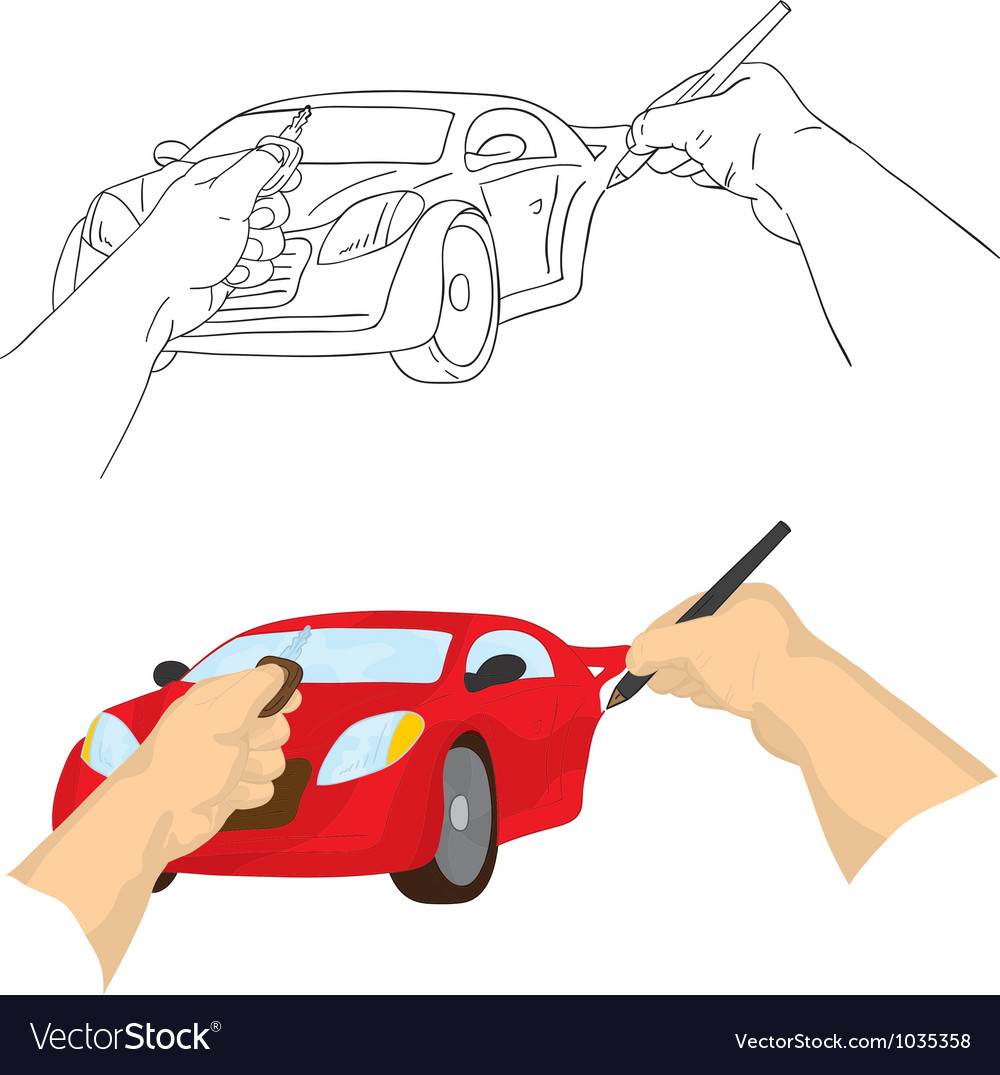 Hand drawing car vector | Price: 1 Credit (USD $1)