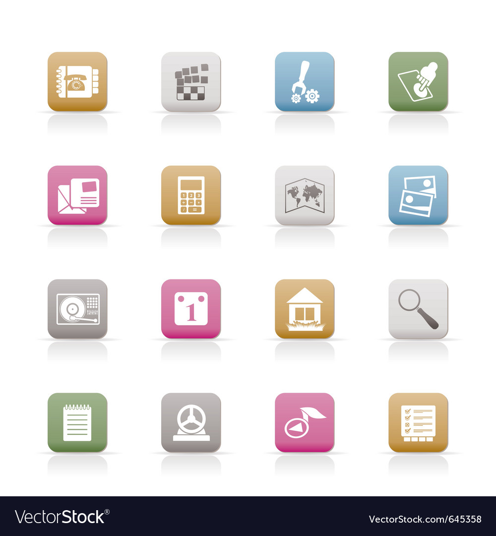 Mobile phone and computer icon vector | Price: 1 Credit (USD $1)