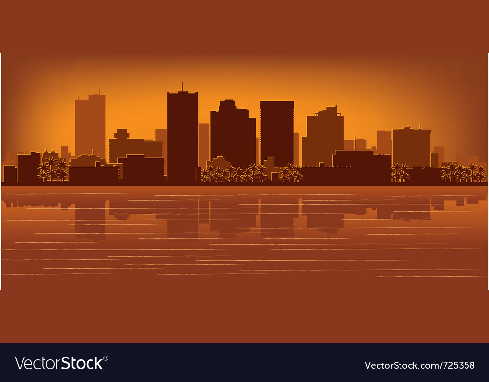 Phoenix arizona skyline vector | Price: 1 Credit (USD $1)
