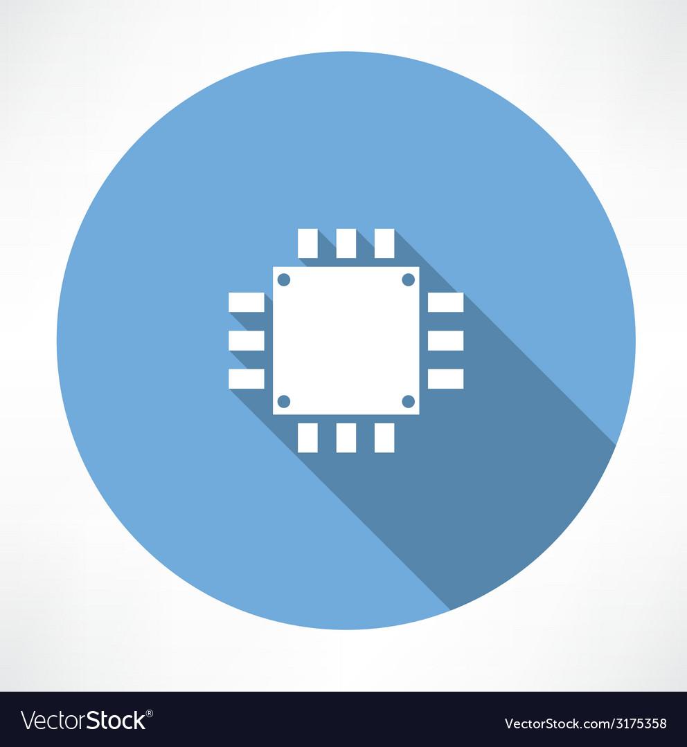 Processor icon vector | Price: 1 Credit (USD $1)