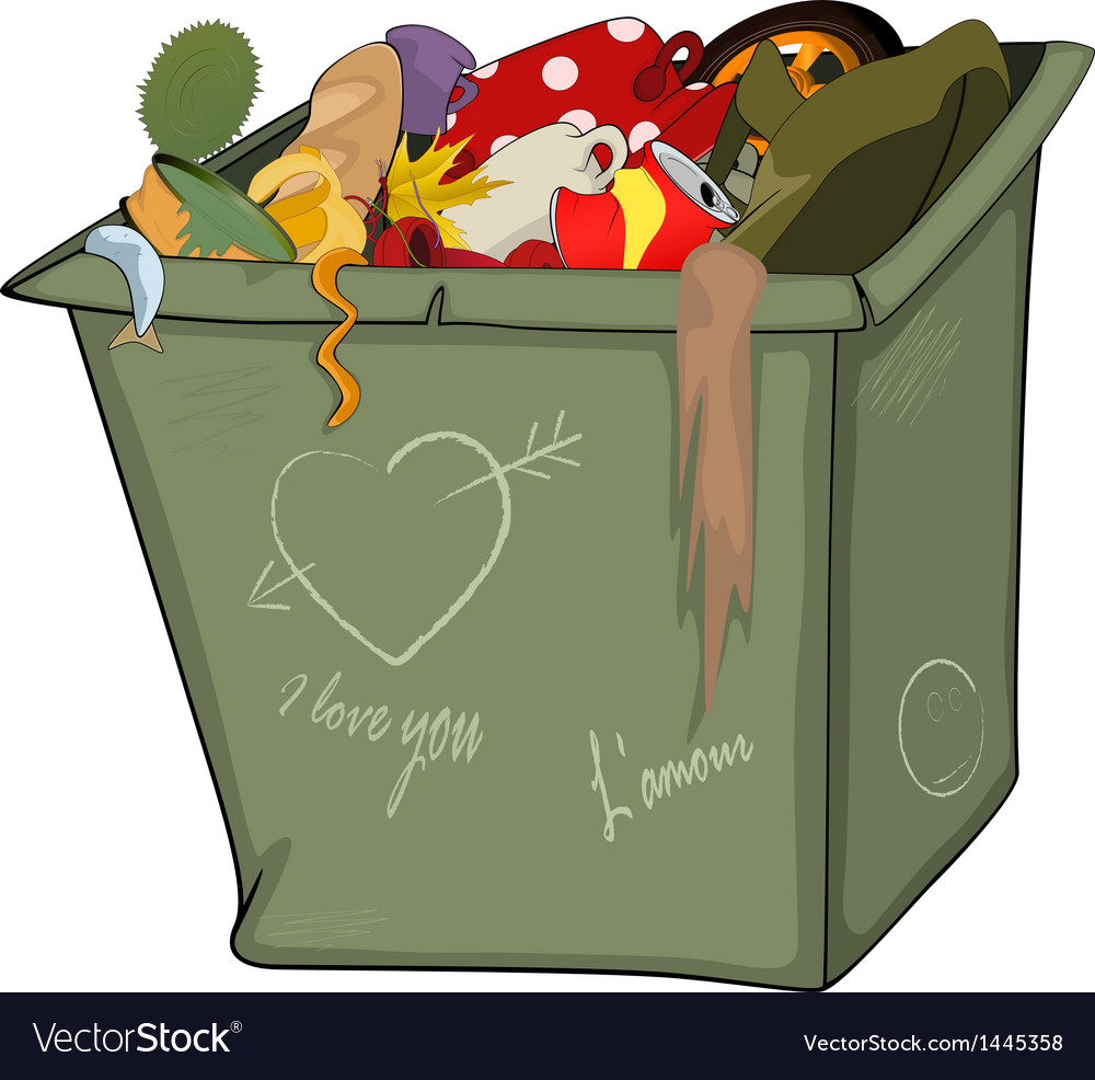 Waste container cartoon vector | Price: 1 Credit (USD $1)