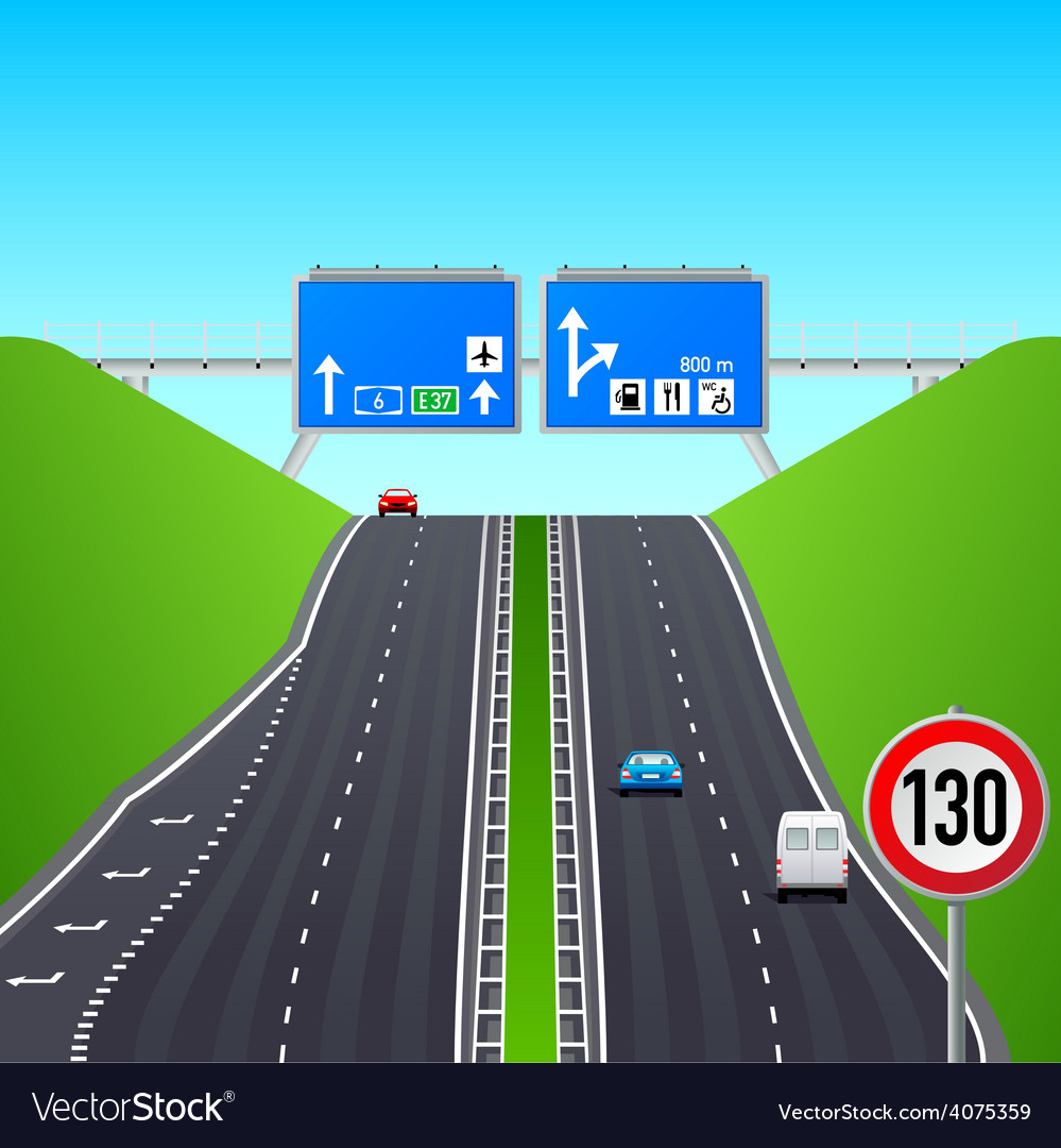 Autobahn infographics vector | Price: 3 Credit (USD $3)