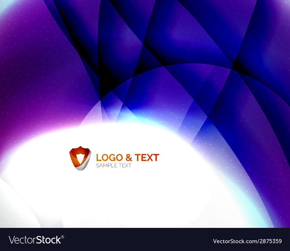 Blue blurred waves with purple glowing vector   Price: 1 Credit (USD $1)