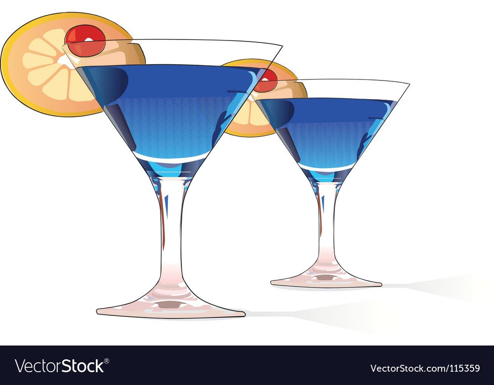 Blue cocktails vector | Price: 1 Credit (USD $1)