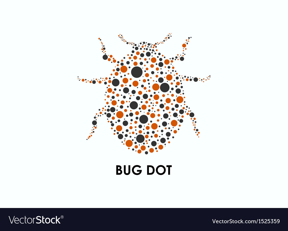 Bug dot vector | Price: 1 Credit (USD $1)