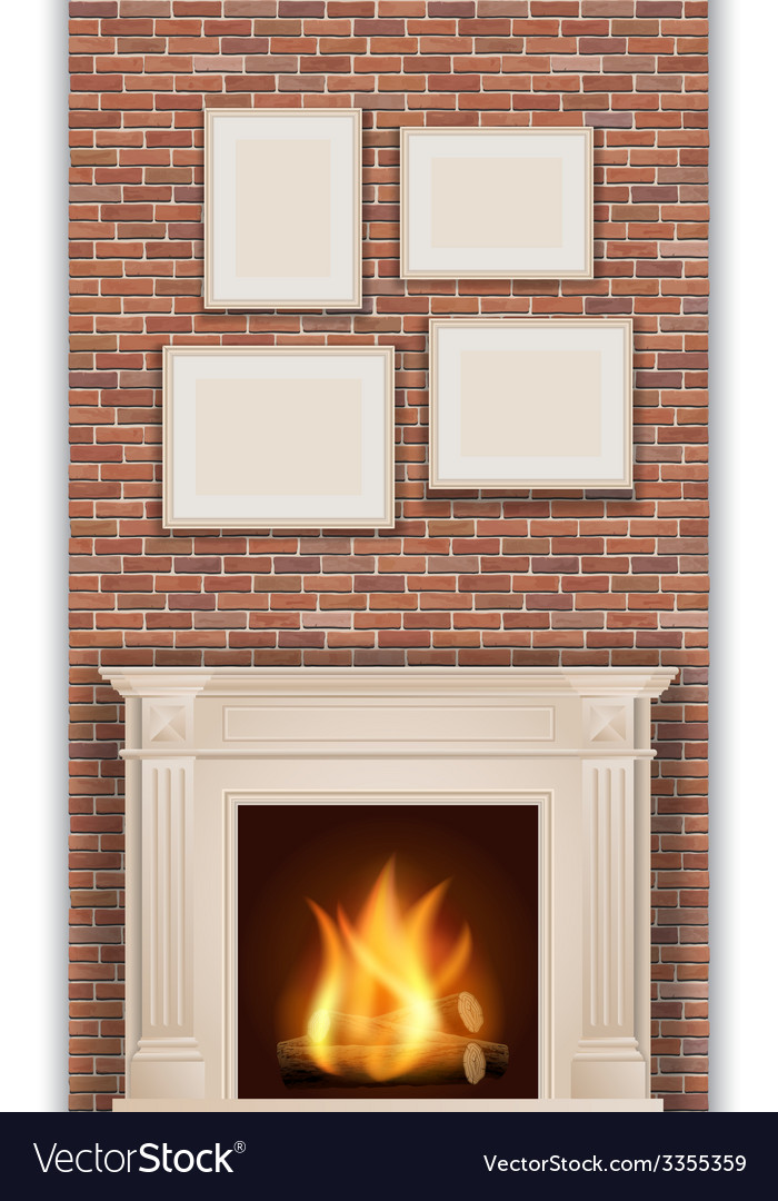 Classic fireplace vector | Price: 3 Credit (USD $3)