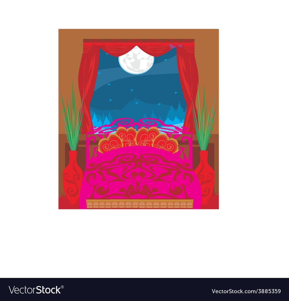 Elegant bedroom vector | Price: 1 Credit (USD $1)