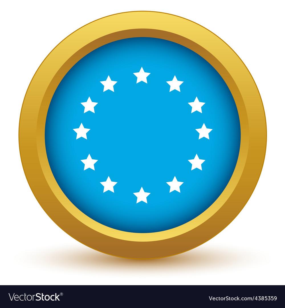Gold european union icon vector | Price: 1 Credit (USD $1)