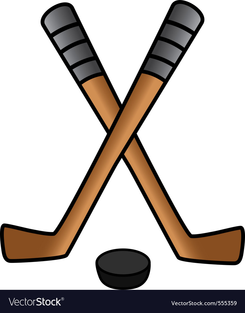 Hockey stick puck vector | Price: 1 Credit (USD $1)