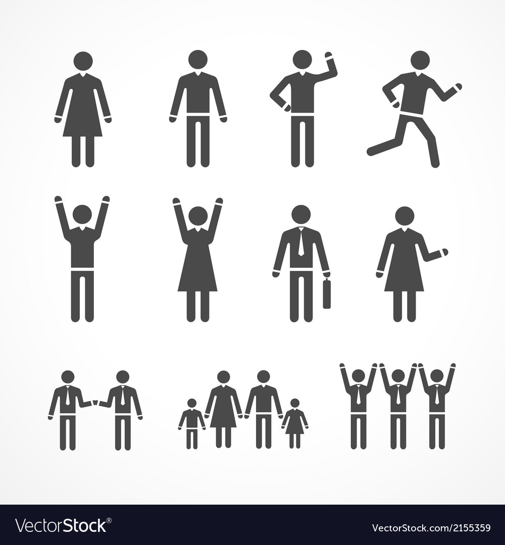 Human silhouettes vector | Price: 1 Credit (USD $1)