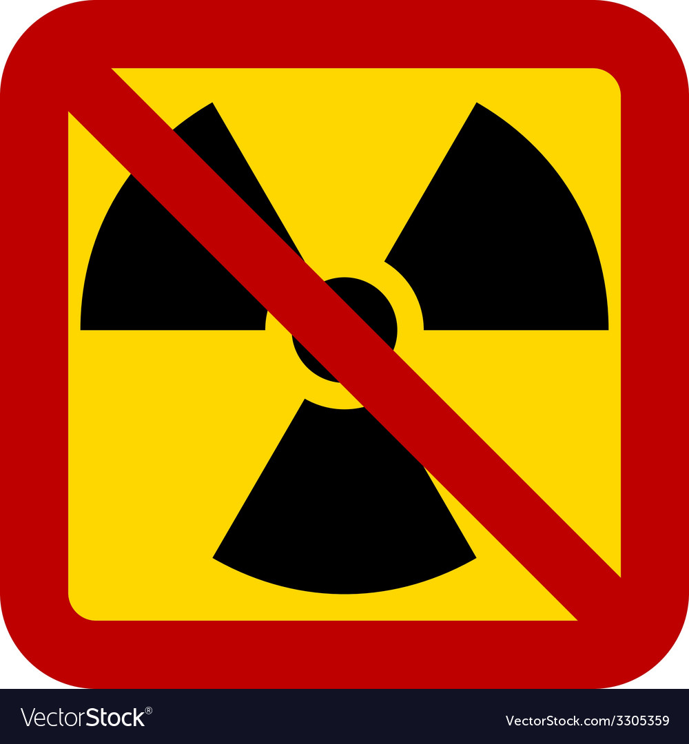 No nuclear weapons sign vector | Price: 1 Credit (USD $1)