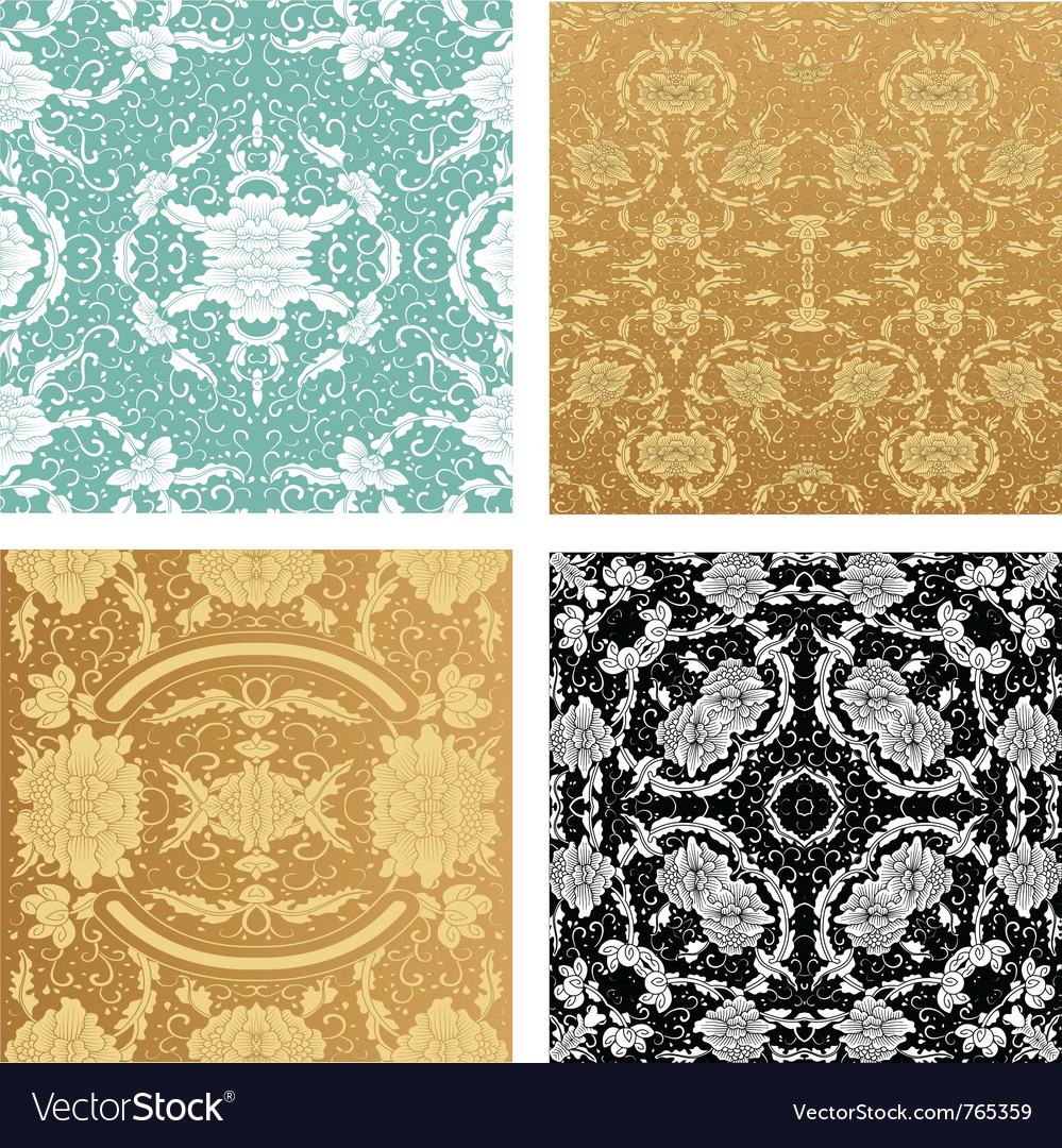 Ornamental backgrounds set vector | Price: 1 Credit (USD $1)