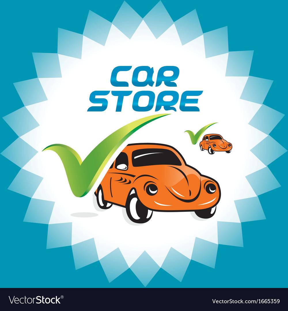 Retro car accept icons vector | Price: 1 Credit (USD $1)