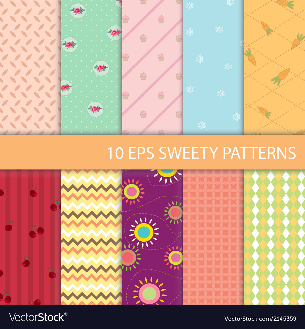 Set of sweety graphic pattern vector | Price: 1 Credit (USD $1)