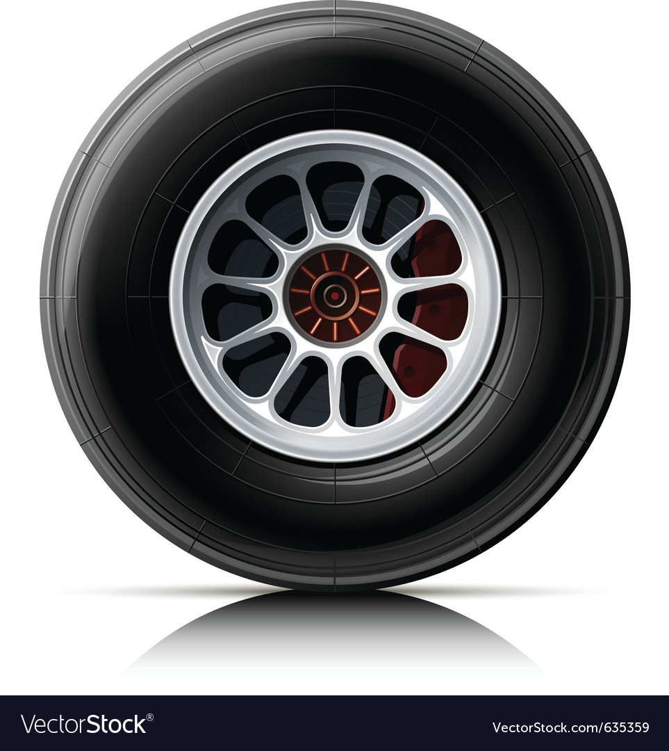 Sports car wheel vector | Price: 1 Credit (USD $1)