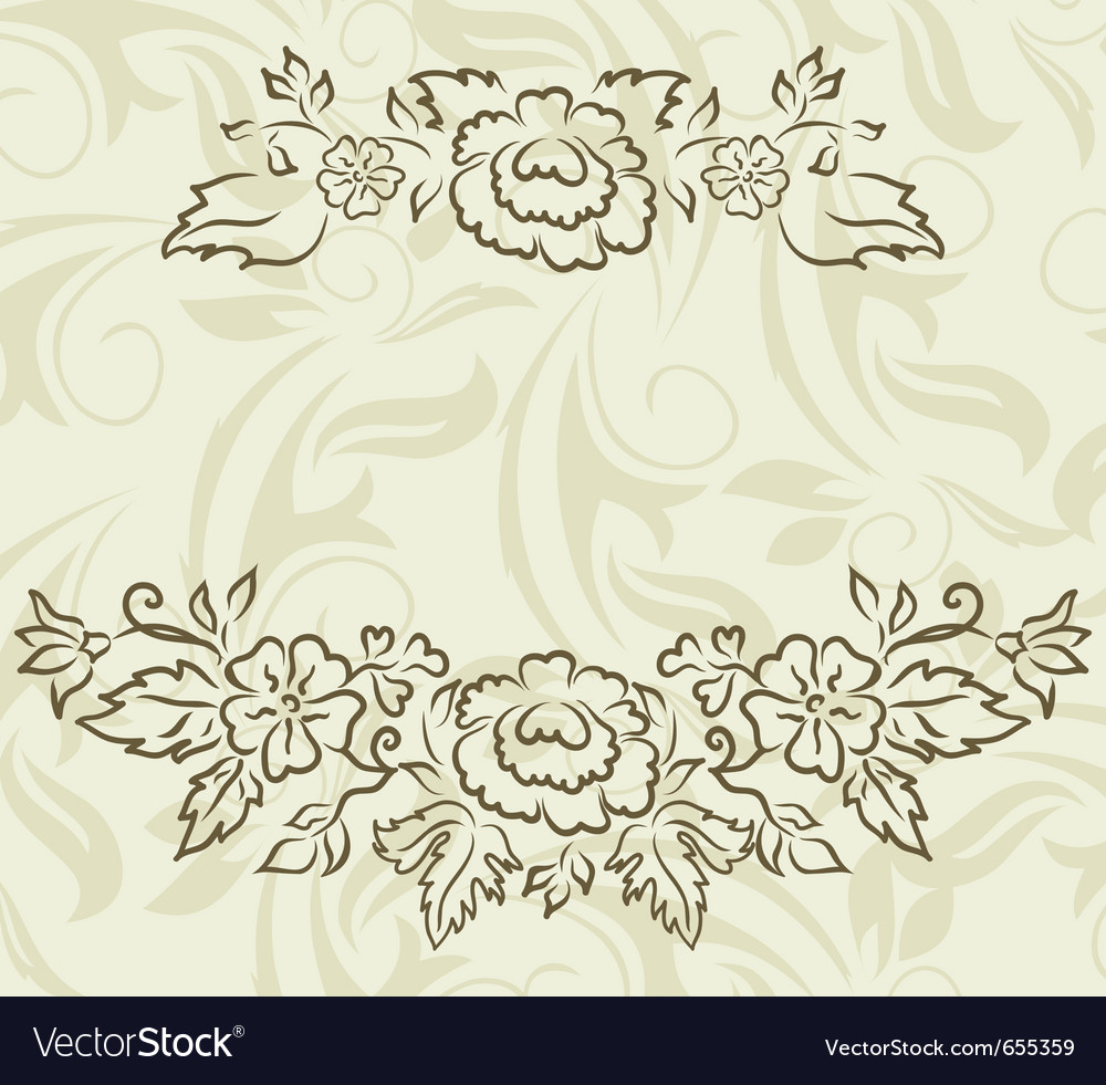 Vintage design for greeting card - vector | Price: 1 Credit (USD $1)