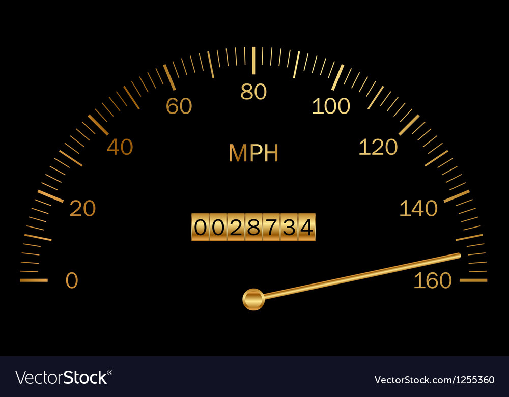 Black and gold speedometer vector | Price: 1 Credit (USD $1)