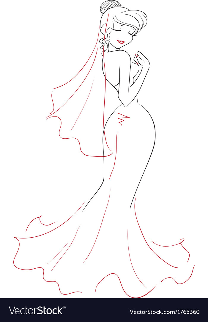 Bride vector | Price: 1 Credit (USD $1)