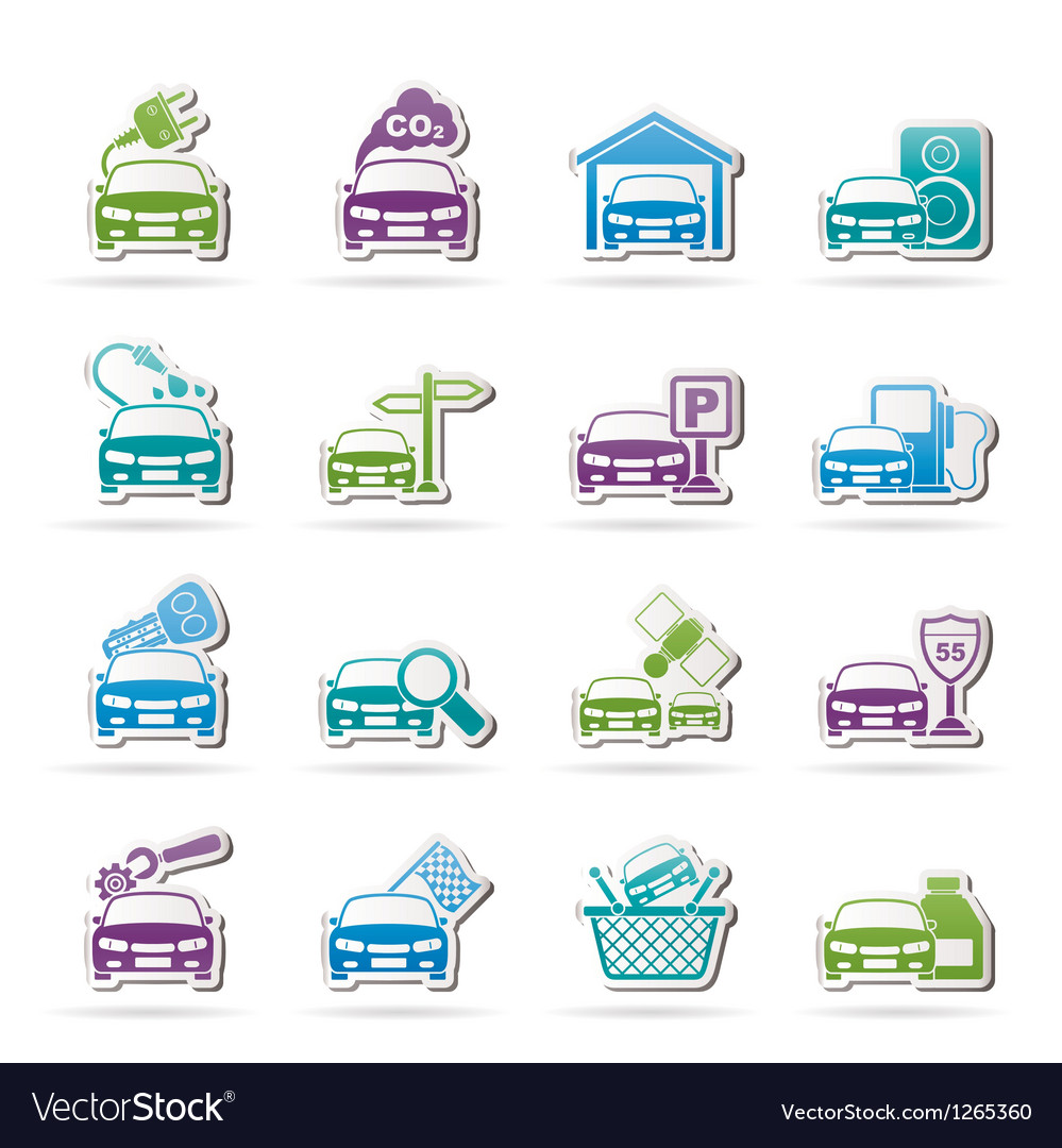 Car and road services icons vector | Price: 3 Credit (USD $3)