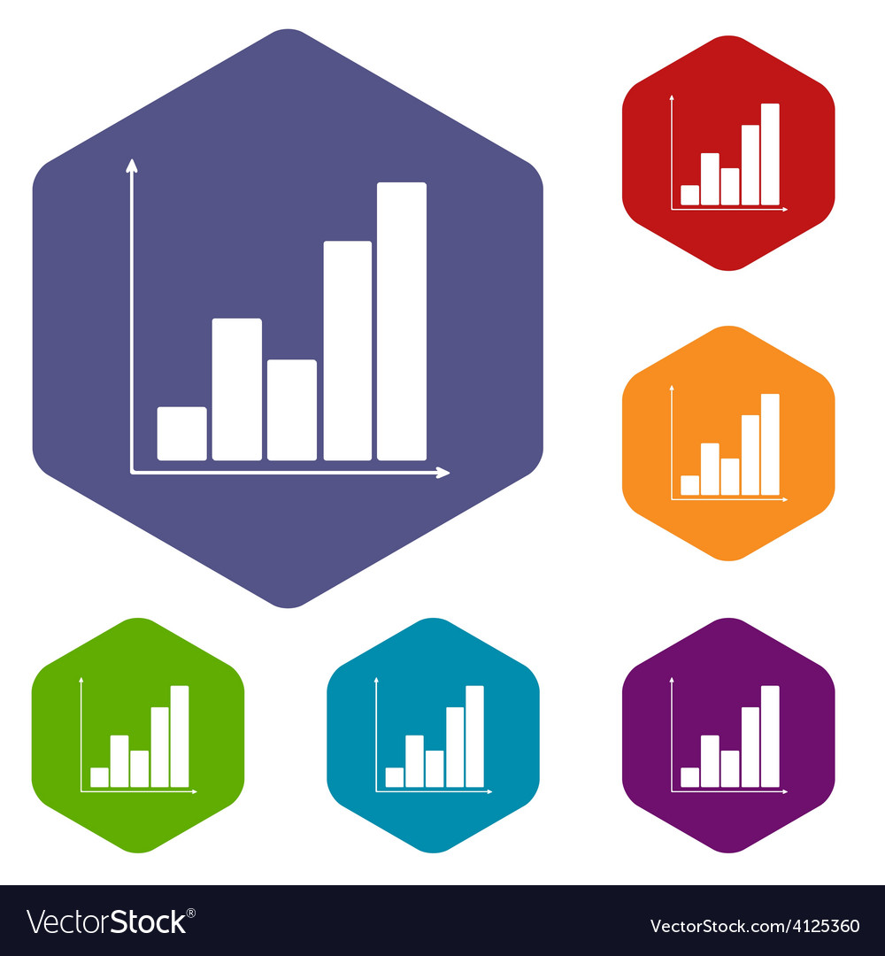 Chart rhombus icons vector | Price: 1 Credit (USD $1)