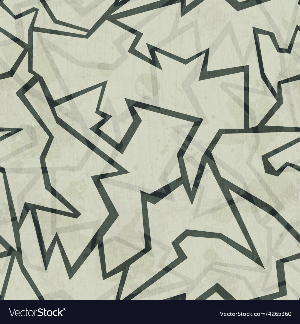 Crack seamless pattern with grunge effect vector | Price: 1 Credit (USD $1)